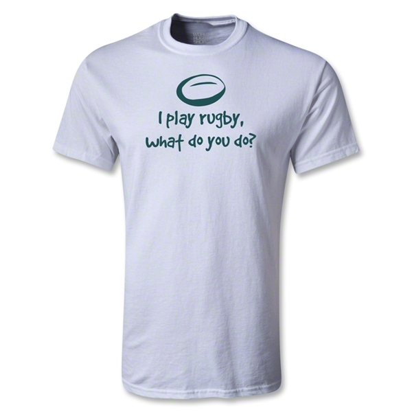 I Play Rugby Youth T-Shirt (White)