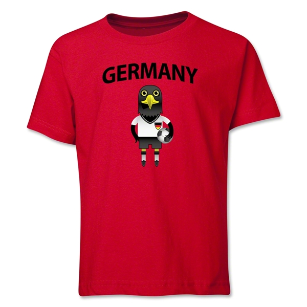 Germany Animal Mascot Youth T-Shirt (Red)