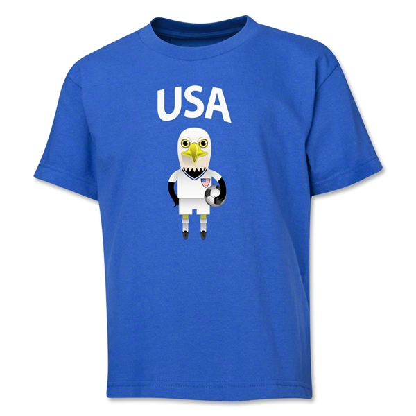 USA Animal Mascot Youth T-Shirt (Royal)