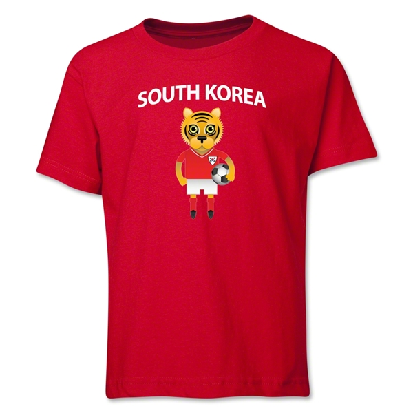 South Korea Animal Mascot Youth T-Shirt (Red)