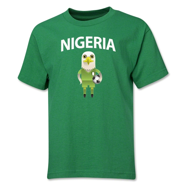 Nigeria Animal Mascot Youth T-Shirt (Green)