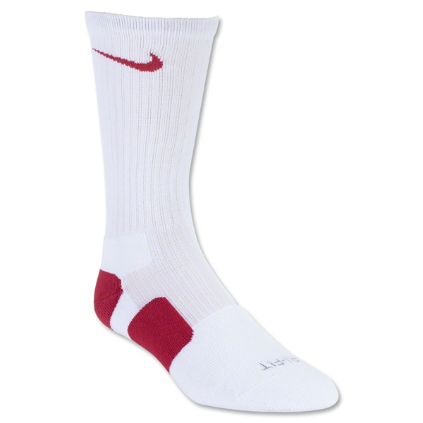 Nike Elite Crew Sock (Wh/Red)