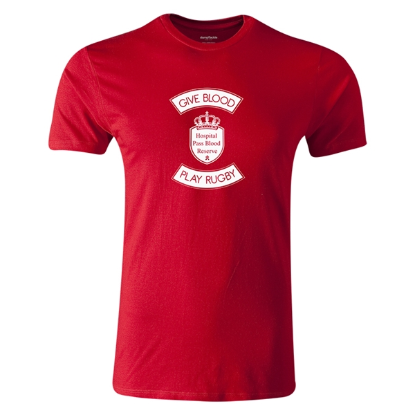 dumpTackle Give Blood-Play Rugby T-Shirt (Red)