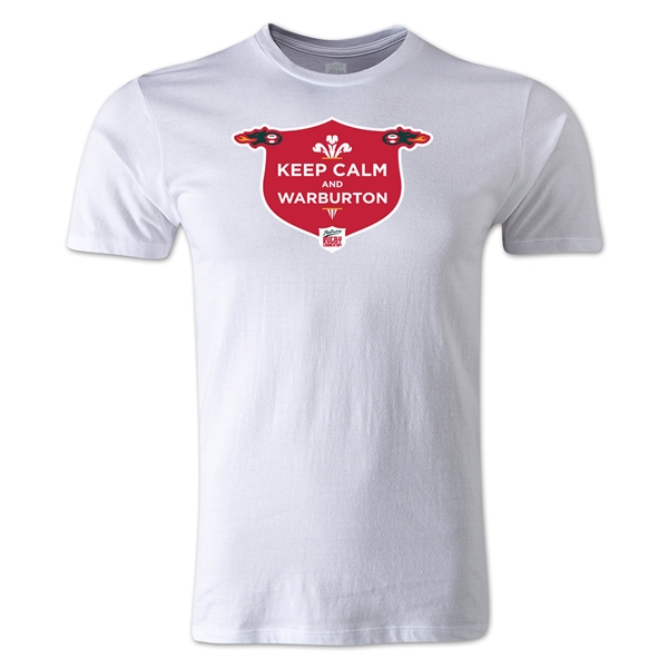 Keep Calm Alternative Rugby Commentary T-Shirt (White)