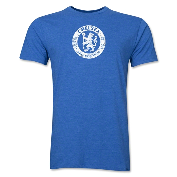 Chelsea Distressed Emblem Men's Fashion T-Shirt (Heather Royal)