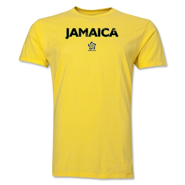 Jamaica CONCACAF Distressed Men's Fashion T-Shirt (Yellow)