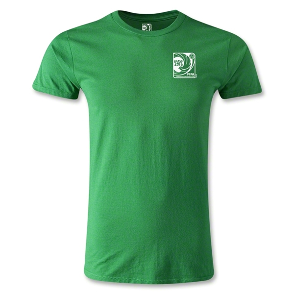 FIFA Confederations Cup 2013 Men's Fashion Small Emblem T-Shirt (Green)