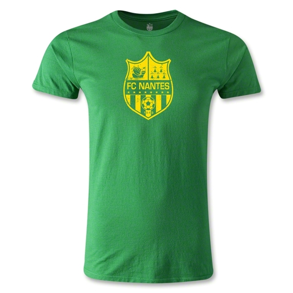 FC Nantes Distressed Crest Men's Fashion T-Shirt (Green)
