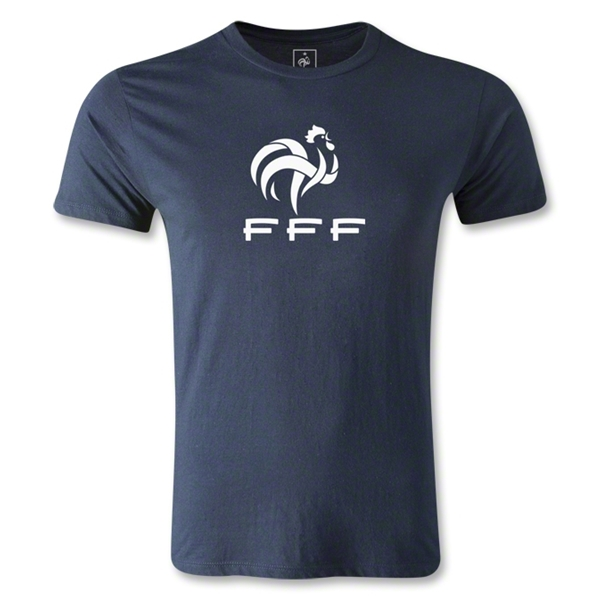 France FFF Men's Fashion T-Shirt (Navy)
