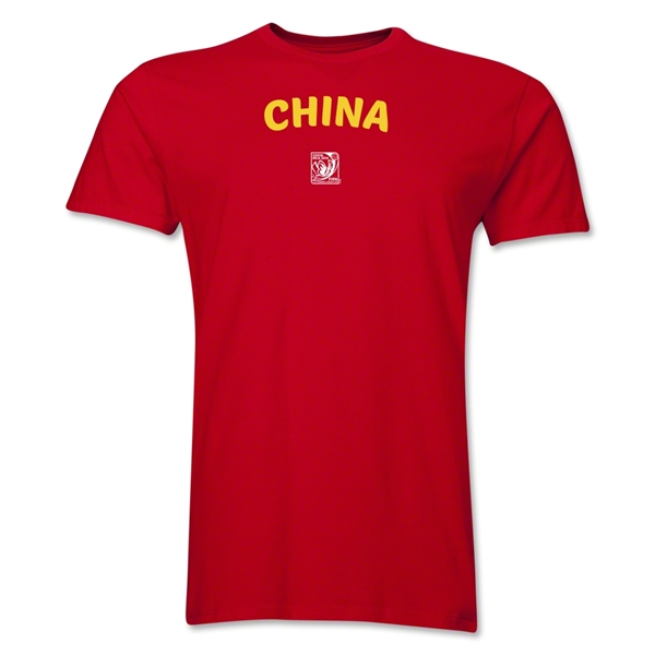 China FIFA U-17 Women's World Cup Costa Rica 2014 Men's Core T-Shirt (Red)