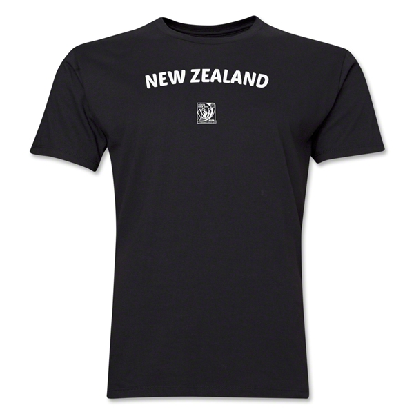 New Zealand FIFA U-17 Women's World Cup Costa Rica 2014 Men's Core T-Shirt (Black)