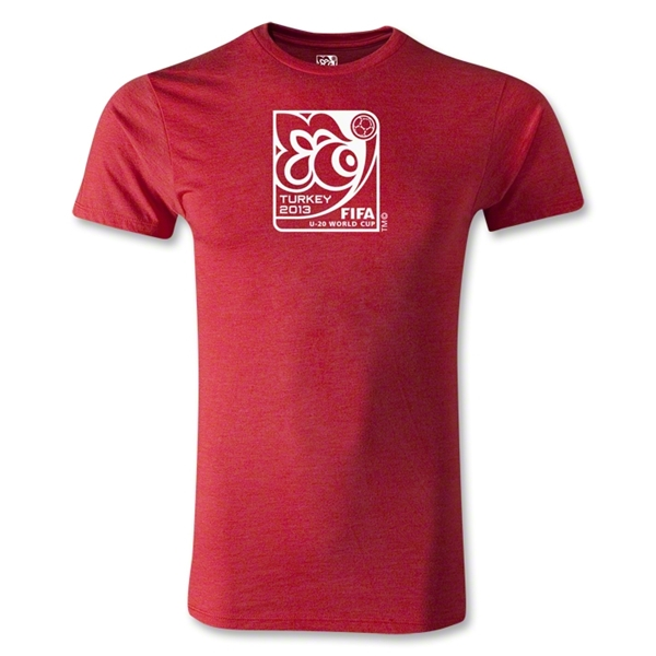 FIFA U-20 World Cup Turkey 2013 Men's Fashion Emblem T-Shirt (Heather Red)