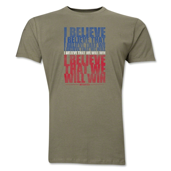I Believe Men's Fashion T-Shirt (Dark Gray)