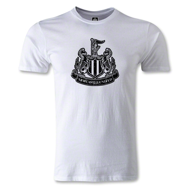 Newcastle United Distressed Crest Men's Fashion T-Shirt