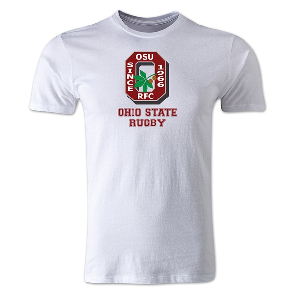 Ohio State Alumni Rugby Men's Fashion T-Shirt (White)