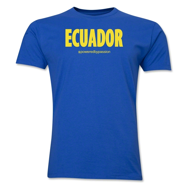 Ecuador Powered by Passion T-Shirt (Royal)
