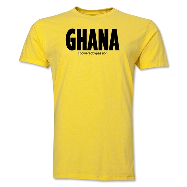 Ghana Powered by Passion T-Shirt (Yellow)