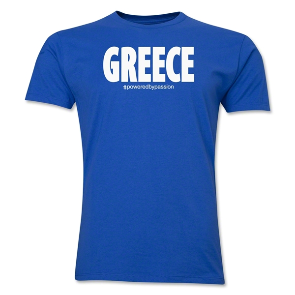 Greece Powered by Passion T-Shirt (Royal)