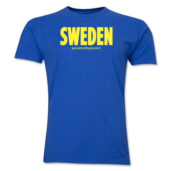 Sweden Powered by Passion T-Shirt (Royal)