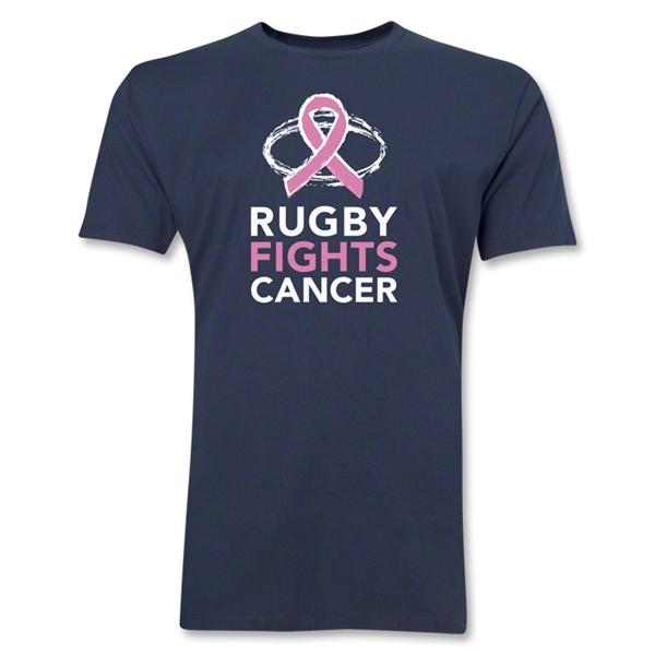 Rugby Fights Cancer Premium T-Shirt (Navy)