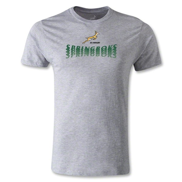South Africa Springboks Shadow Premier T-Shirt (Gray)