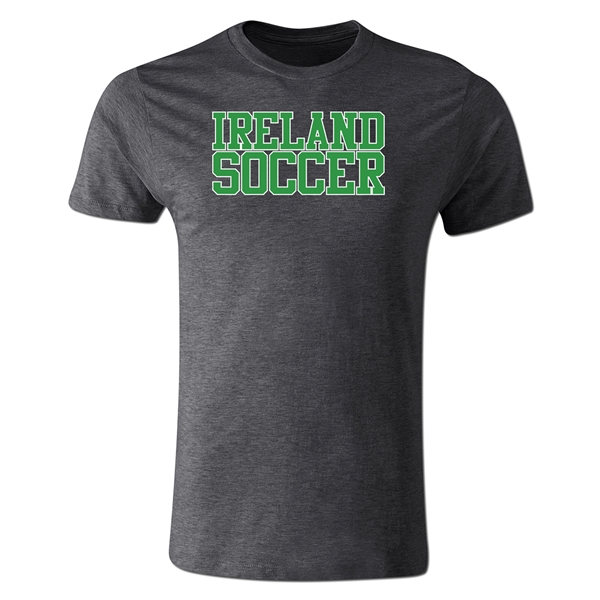 Ireland Soccer Supporter Men's Fashion T-Shirt (Dark Gray)