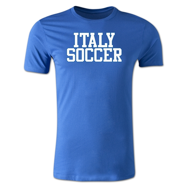 Italy Soccer Supporter Men's Fashion T-Shirt (Royal)