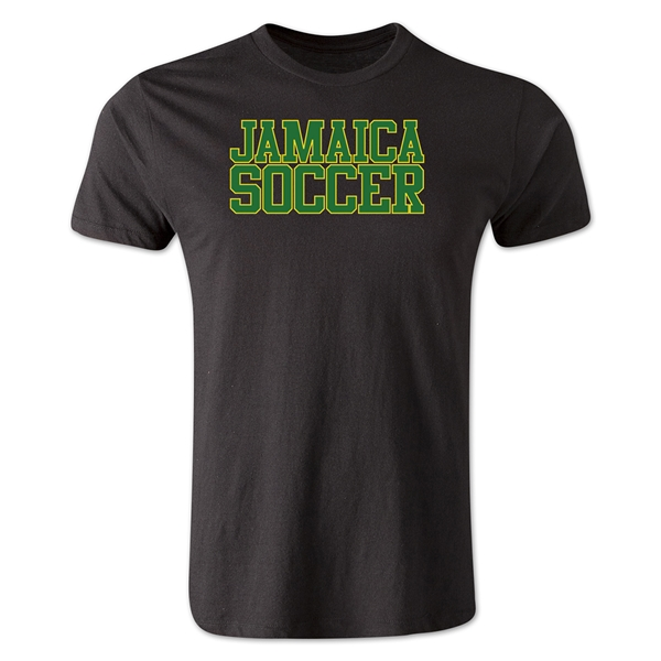 Jamaica Soccer Supporter Men's Fashion T-Shirt (Black)