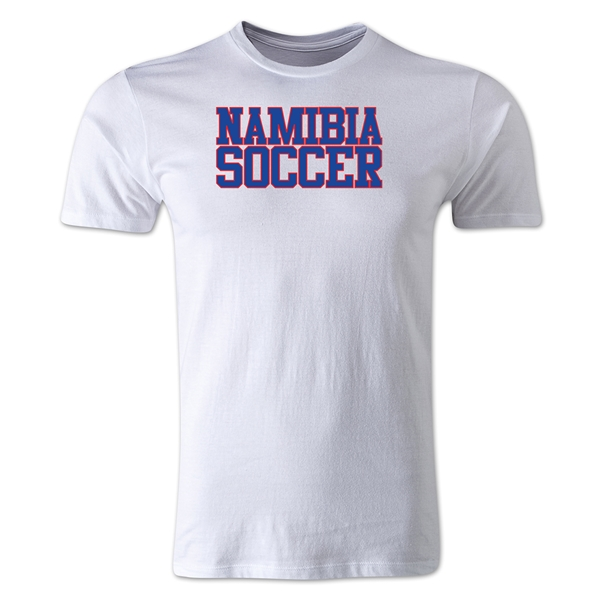 Namibia Soccer Supporter Men's Fashion T-Shirt (White)