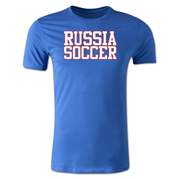 Russia Soccer Supporter Men's Fashion T-Shirt (Royal)