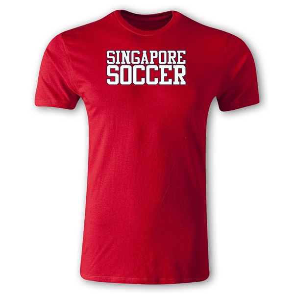 Singapore Soccer Supporter Men's Fashion T-Shirt (Red)