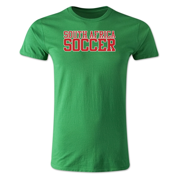 South Africa Soccer Supporter Men's Fashion T-Shirt (Green)