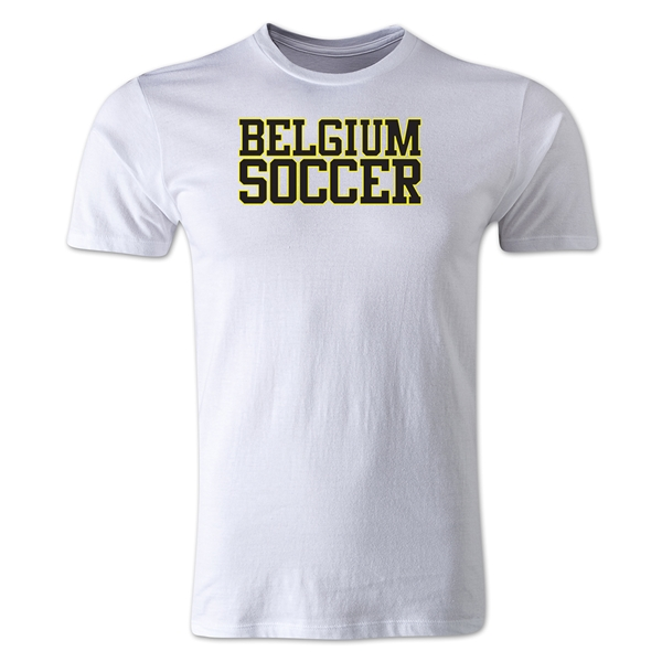 Belgium Soccer Supporter Men's Fashion T-Shirt (White)