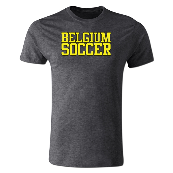 Belgium Soccer Supporter Men's Fashion T-Shirt (Dk Gray)