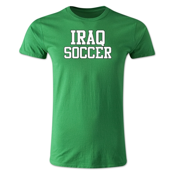 Iraq Soccer Supporter Men's Fashion T-Shirt (Green)