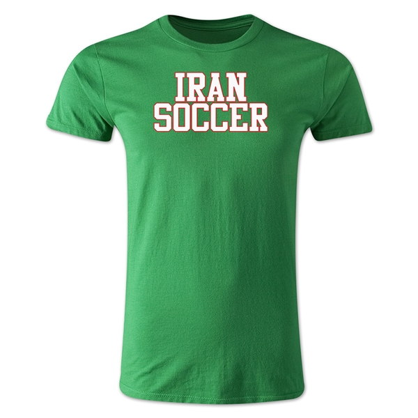 Iran Soccer Supporter Men's Fashion T-Shirt (Green)