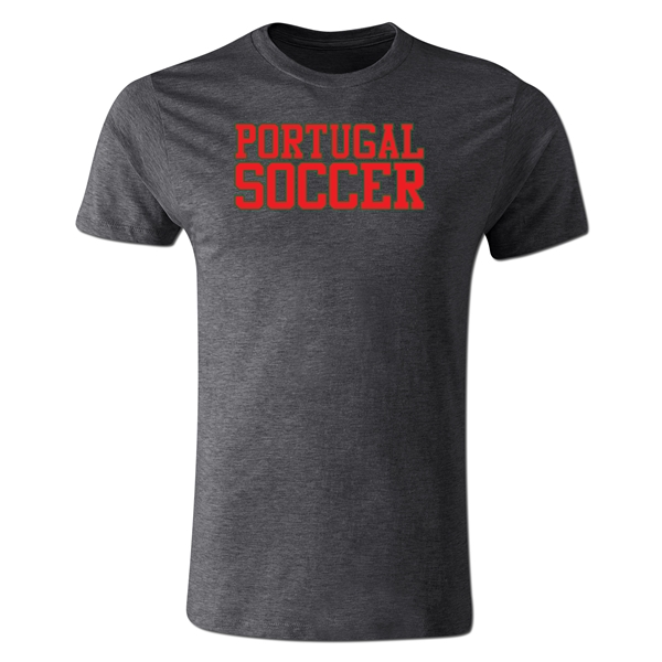 Portugal Soccer Supporter Men's Fashion T-Shirt (Dk Gray)