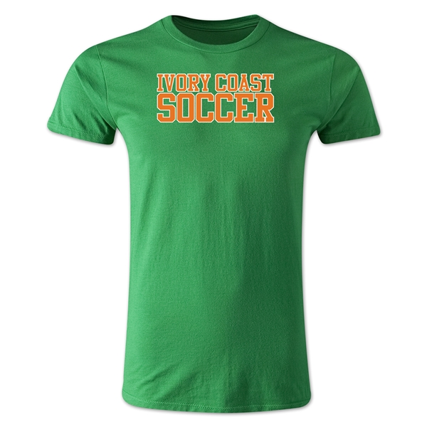 Ivory Coast Soccer Supporter Men's Fashion T-Shirt (Green)