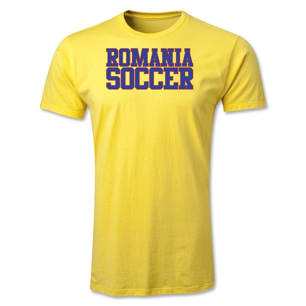 Romania Soccer Supporter Men's Fashion T-Shirt (Yellow)
