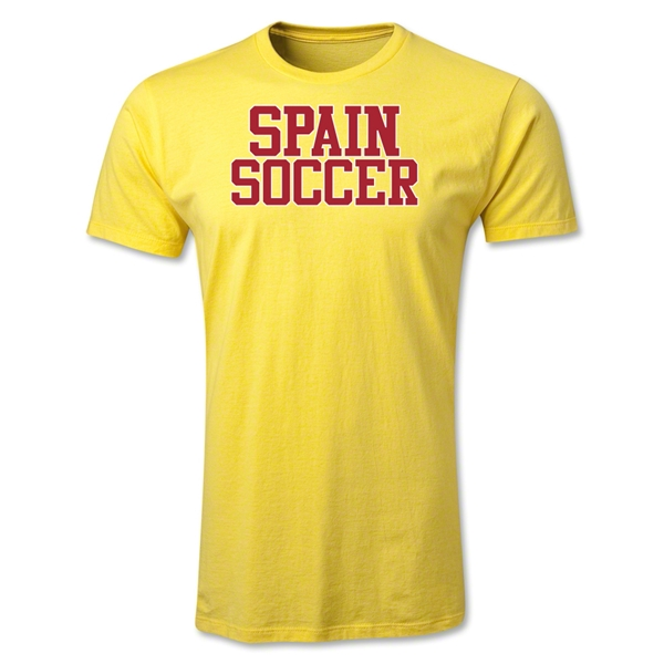 Spain Soccer Supporter Men's Fashion T-Shirt (Yellow)