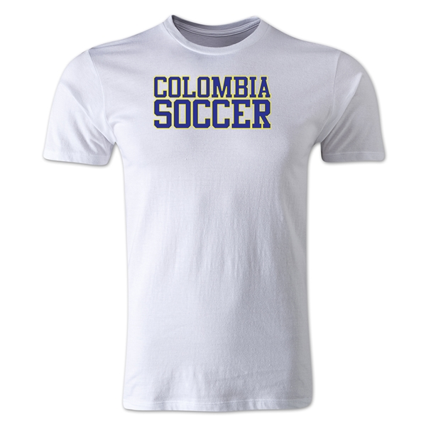 Colombia Soccer Supporter Men's T-Shirt (White)