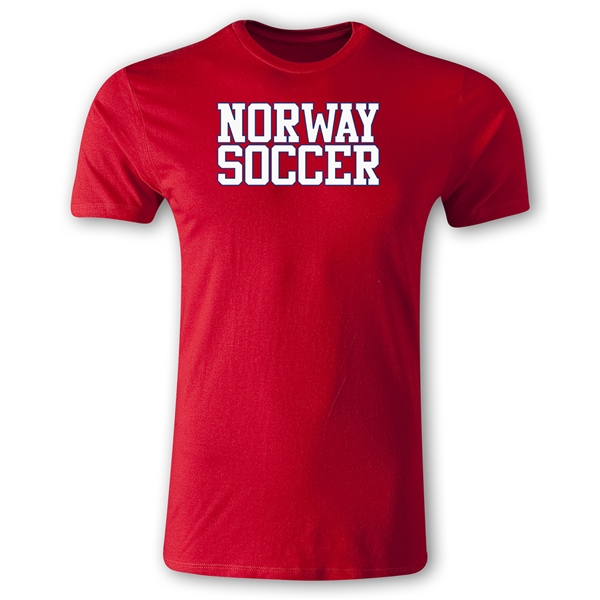 Norway Soccer Supporter Men's Fashion T-Shirt (Red)