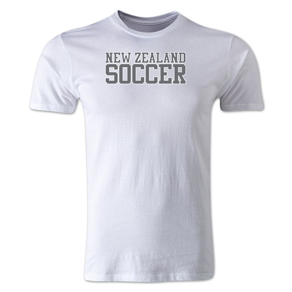 New Zealand Soccer Supporter Men's Fashion T-Shirt (White)