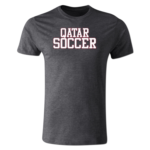 Qatar Soccer Supporter Men's Fashion T-Shirt (Dark Gray)