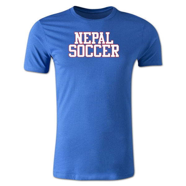 Nepal Soccer Supporter Men's Fashion T-Shirt (Royal)