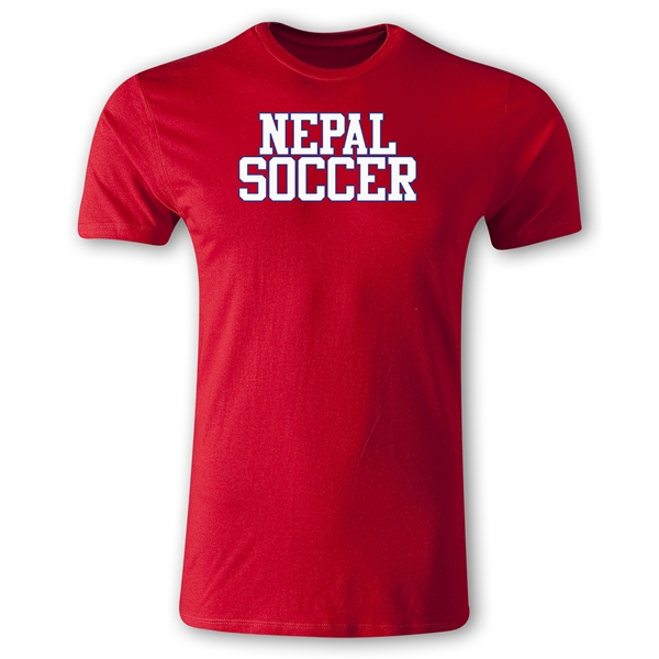Nepal Soccer Supporter Men's Fashion T-Shirt (Red)
