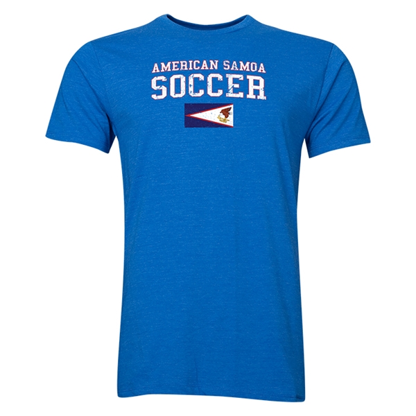 American Samoa Soccer T-Shirt (Heather Royal)