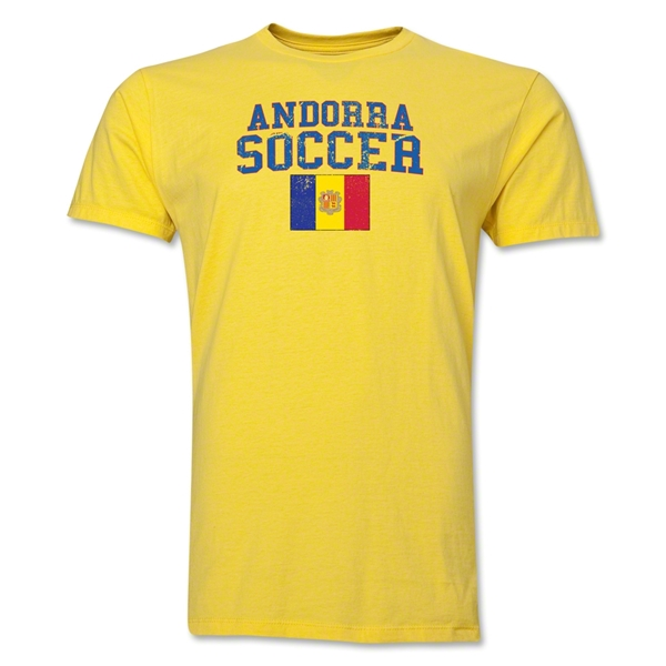 Andorra Soccer T-Shirt (Yellow)