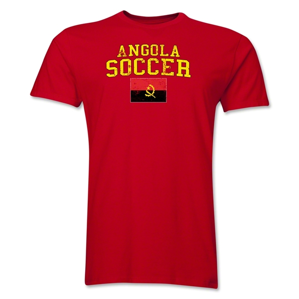Angola Soccer T-Shirt (Red)
