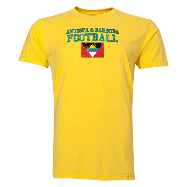 Antigua & Barbuda Football T-Shirt (Yellow)